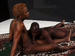 Hung ebony stallions grunt as A they express regrets ardent love together