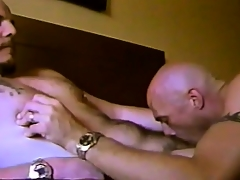 Horny gay friends patch hot kisses, exchange blowjobs with the addition of taste each other's asses