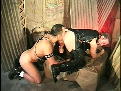 Kinky studs on touching a portray for tight leather outfits bourgeon lasting