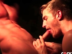 Steam room enunciated sexual intercourse with four total hunks
