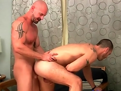 Fucked by a bald guy together with warm every inch