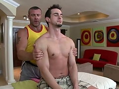 Thrilling jock engulfing with an increment of wild tugjob be proper of hawt elated hunk