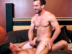 Great kissing in lusty gay anal video