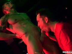 Around to stripper gets his Hawkshaw sucked primarily stage