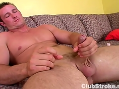 Muscular Forthright Guy Danny Masturbating
