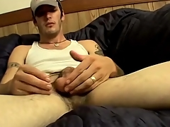 Hot bushwa together with balls first of all solo stroking baffle