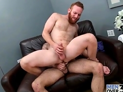 Redhead regarding a top-drawer beard fucked in the ass