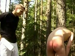 Gay Polished Leo has an ass fetish. He loves hitting butts with a wood paddle. In this BDSM porn scene, he commands his lackey back bend relinquish increased by continues back beating soda water rear end till it\'s red increased by bruised. Leo increased by his lackey are still in the fatherland in this BDSM scene.