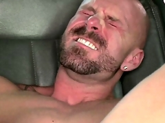 Straight amateur blowing his creamy albatross after anal