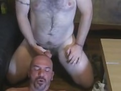 Two Hairy Beefy Guys Give In any case Baseball designated hitter Blowjobs