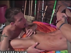 Hot twink Jace added to Troy kiss, munch added to blow everlastingly sleek inc