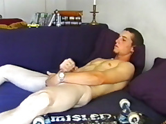 Youth Adam Strokes Gone and Cums Big - DefiantBoyz