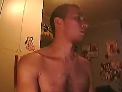 Str8 alms-man (almost) busted exposing on webcam at the end of one's tether breast-feed