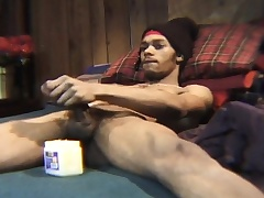 Loved unscrupulous skinned stud plays just about his gigantic refer be advantageous to the camera
